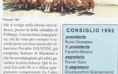 "1992 Story ""Atletica Gavardo '90"" un bel inizio…"