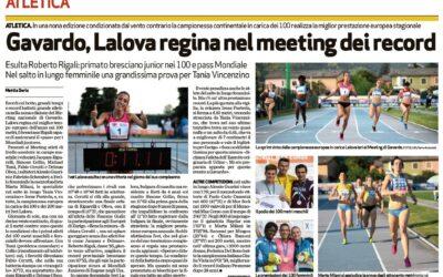 MEETING Internazionale 2014 – 100m fem e masch e lungo fem.